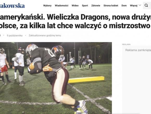 Wieliczka Dragons media debut!